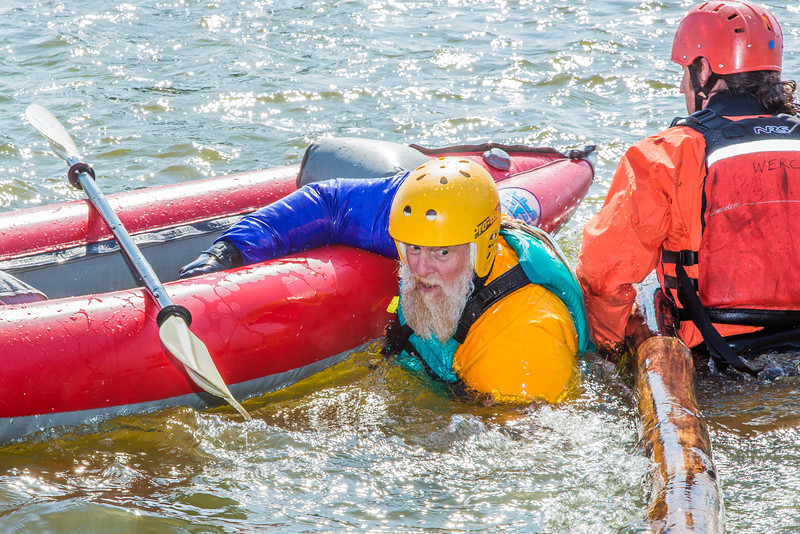 """Staff members and graduate students from the Water and Environmental Research Center (WERC) and the Institute of Northern Engineering (INE) receive swiftwater rescue and safety training in the Chena River.  <div class=""""ss-paypal-button"""">Filename: AAR-13-3813-186.jpg</div><div class=""""ss-paypal-button-end"""" style=""""""""></div>"""
