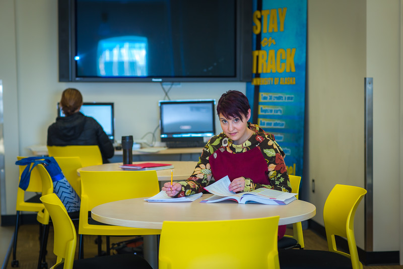 """Katie Elanna is studying nursing at UAF's Northwest Campus in Nome.  <div class=""""ss-paypal-button"""">Filename: AAR-16-4865-411.jpg</div><div class=""""ss-paypal-button-end""""></div>"""