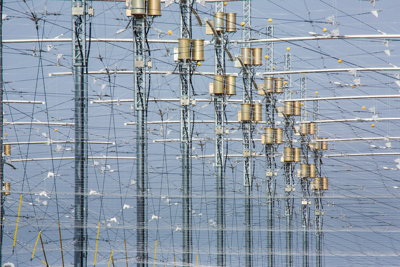 """A look at part of the antenae array at the High Frequency Active Auroral Research Program (HAARP) facility in Gakona. The facility was built and operated by the U.S. military before its official transfer to UAF's Geophysical Institute in August 2015.  <div class=""""ss-paypal-button"""">Filename: AAR-15-4600-032.jpg</div><div class=""""ss-paypal-button-end""""></div>"""