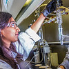 "Graduate student Shruti Oza sets up apparatus for a procedure in UAF's Petroleum Development Lab in the Duckering Building.  <div class=""ss-paypal-button"">Filename: AAR-13-3918-174.jpg</div><div class=""ss-paypal-button-end"" style=""""></div>"