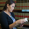 "Melissa Charlie conducts some research for her paralegal studies class in the law library at CTC's law library.  <div class=""ss-paypal-button"">Filename: AAR-11-3225-65.jpg</div><div class=""ss-paypal-button-end"" style=""""></div>"