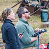 "Pilots Jennifer Haney, left, and Mike Cook operate the controls of the Aeryon Scout quadcopter as it takes off on an historic flight at UAF's Large Animal Research Station.  <div class=""ss-paypal-button"">Filename: AAR-14-4172-106.jpg</div><div class=""ss-paypal-button-end""></div>"