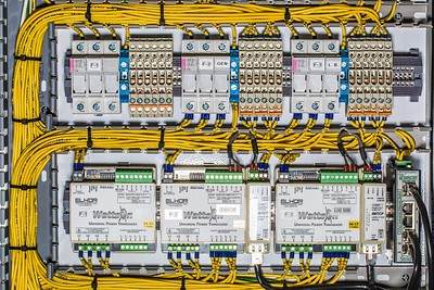 A test circuit board being utilized at the Alaska Center for Energy and Power.  Filename: AAR-13-3705-125.jpg