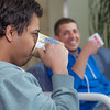"Ibrahim Ilhan, left, and Nilesh Chandrakant Dixit hold a discussion while drinking tea in the third floor lobby of the Reichardt Building on the Fairbanks campus.  <div class=""ss-paypal-button"">Filename: AAR-12-3386-30.jpg</div><div class=""ss-paypal-button-end"" style=""""></div>"