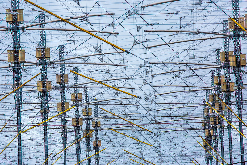 """A look at part of the antenae array at the High Frequency Active Auroral Research Program (HAARP) facility in Gakona. The facility was built and operated by the U.S. military before its official transfer to UAF's Geophysical Institute in August 2015.  <div class=""""ss-paypal-button"""">Filename: AAR-15-4600-093.jpg</div><div class=""""ss-paypal-button-end""""></div>"""