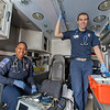 "UAF student firefighters/EMTs Lillian Hampton and Cory Kelly pause during a training exercise in the back of an ambulance housed in the Whitaker Building on the Fairbanks campus.  <div class=""ss-paypal-button"">Filename: AAR-11-3223-42.jpg</div><div class=""ss-paypal-button-end"" style=""""></div>"