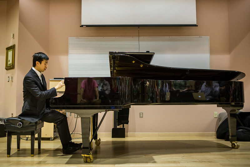 """Contestant Martin Leung, also known as the video game pianist, performs music from video games at a public lecture during the Alaska International Piano-e-Competition  <div class=""""ss-paypal-button"""">Filename: AAR-14-4234-11.jpg</div><div class=""""ss-paypal-button-end""""></div>"""