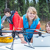"Students take part in a project using unmaned aerial vehicles (UAVs) at Poker Flat Research Range about 40 miles northeast of the Fairbanks campus. (Note: Taken as part of commercial shoot with Nerland Agency. Pretend class -- use with discretion!)  <div class=""ss-paypal-button"">Filename: AAR-12-3560-088.jpg</div><div class=""ss-paypal-button-end""></div>"