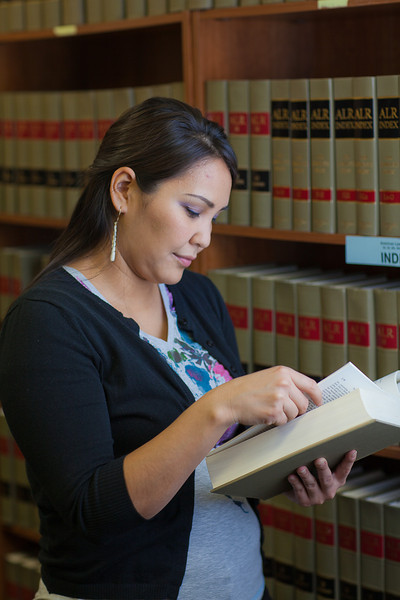 """Melissa Charlie conducts some research for her paralegal studies class in the law library at CTC's law library.  <div class=""""ss-paypal-button"""">Filename: AAR-11-3225-62.jpg</div><div class=""""ss-paypal-button-end"""" style=""""""""></div>"""