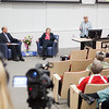 "Summer Sessions Director, Michelle Bartlett welcomes the audience and introduces host Robert Hannon with Legacy Lecturer Vera Alexander at the Murie Building Auditorium.  <div class=""ss-paypal-button"">Filename: AAR-13-3852-18.jpg</div><div class=""ss-paypal-button-end"" style=""""></div>"