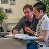 "Faculty member Zach Fansler, left, helps local student Gerald Anvil with a math assignment at at UAF's Kuskokwim Campus in Bethel.  <div class=""ss-paypal-button"">Filename: AAR-16-4859-080.jpg</div><div class=""ss-paypal-button-end""></div>"