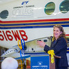 "CTC Executive Dean Michelle Stalder makes remarks during the official ribbon cutting ceremony in CTC's new aviation program hanger at the Fairbanks International Airport.  <div class=""ss-paypal-button"">Filename: AAR-13-3810-11.jpg</div><div class=""ss-paypal-button-end"" style=""""></div>"
