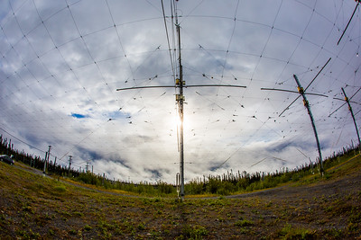 A look at part of the antenae array at the High Frequency Active Auroral Research Program (HAARP) facility in Gakona. The facility was built and operated by the U.S. military before its official transfer to UAF's Geophysical Institute in August 2015.  Filename: AAR-15-4600-024.jpg