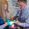 "Program director Vaughan Hoefler works with one of his students in CTC's dental hygienist program in their training facility in downtown Fairbanks.  <div class=""ss-paypal-button"">Filename: AAR-12-3308-051.jpg</div><div class=""ss-paypal-button-end"" style=""""></div>"