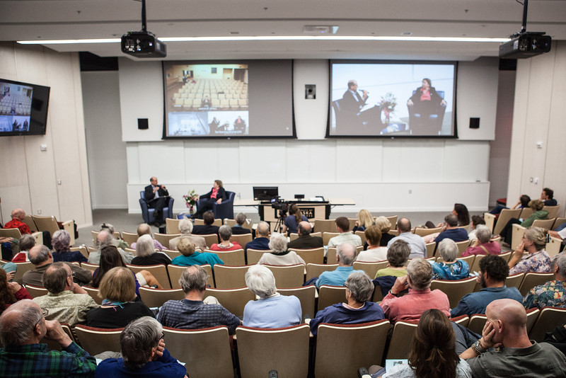 "Summer Sessions' Legacy Lecture with distinguished alumnus, Vera Alexander, was the very first public lecture held at the newly opened Murie Building.  <div class=""ss-paypal-button"">Filename: AAR-13-3852-28.jpg</div><div class=""ss-paypal-button-end"" style=""""></div>"
