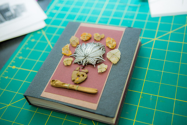 """This is one of the completed projects in a custom book binding workshop offered by UAF Summer Sessions during Wintermester 2013.  <div class=""""ss-paypal-button"""">Filename: AAR-13-3706-24.jpg</div><div class=""""ss-paypal-button-end"""" style=""""""""></div>"""