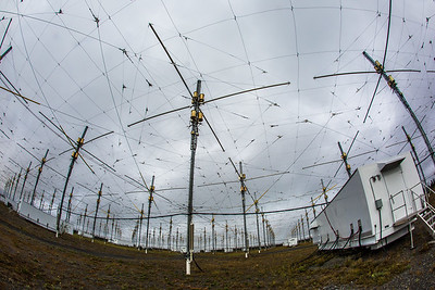 A look at part of the antenae array at the High Frequency Active Auroral Research Program (HAARP) facility in Gakona. The facility was built and operated by the U.S. military before its official transfer to UAF's Geophysical Institute in August 2015.  Filename: AAR-15-4600-082.jpg