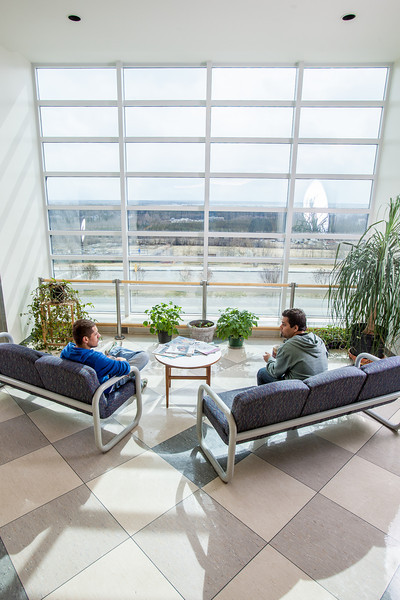 "Ibrahim Ilhan, left, and Nilesh Chandrakant Dixit hold a discussion in the third floor lobby of the Reichardt Building on the Fairbanks campus.  <div class=""ss-paypal-button"">Filename: AAR-12-3386-13.jpg</div><div class=""ss-paypal-button-end"" style=""""></div>"