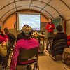 "Assistant professor Donie Bret-Harte presents a lecture to visiting students at the presentation tent at the Toolik Field Station on Alaska's North Slope. Bret-Harte serves as chief science officer at the facility, operated by UAF's Institute of Arctic Biology.  <div class=""ss-paypal-button"">Filename: AAR-14-4216-022.jpg</div><div class=""ss-paypal-button-end""></div>"