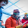 "Assistant professor of geophysics Erin Pettit, center, cuts slices of glacier samples in the Elvey Building's ice lab.  <div class=""ss-paypal-button"">Filename: AAR-12-3330-015.jpg</div><div class=""ss-paypal-button-end"" style=""""></div>"