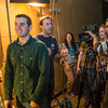 """Students in visiting lecturer Dave Selle's 2013 Wintermester cinematography class listen to comments before shooting a scene in the UAF Fine Arts complex.  <div class=""""ss-paypal-button"""">Filename: AAR-13-3690-6.jpg</div><div class=""""ss-paypal-button-end"""" style=""""""""></div>"""