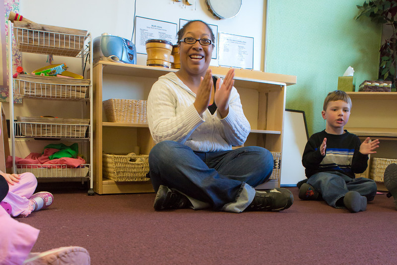 "Kewanna Ellis works with pre-schoolers at the Bunnell House on the UAF campus as part of her internship for a degree in early childhood development.  <div class=""ss-paypal-button"">Filename: AAR-12-3335-079.jpg</div><div class=""ss-paypal-button-end"" style=""""></div>"