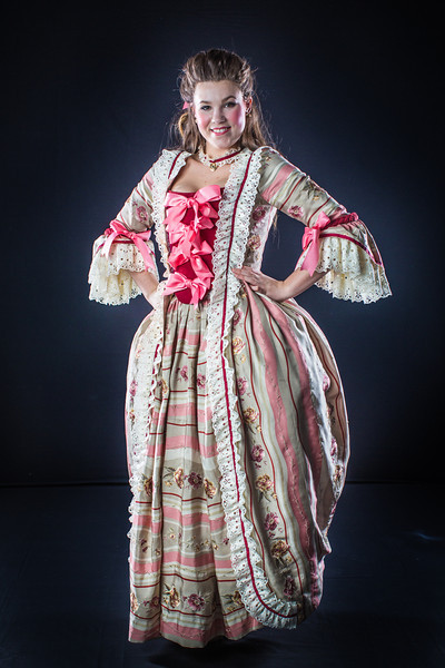 "Cast members from Theatre UAF's spring 2014 production of Tartuffe display their costumes.  <div class=""ss-paypal-button"">Filename: AAR-14-4134-50.jpg</div><div class=""ss-paypal-button-end"" style=""""></div>"