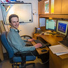 "Assistant Professor Tom Marsik works in his office at UAF's Bristol Bay Campus in Dillingham. Marsik runs the school's environmental studies program and has taken a leading role in developing alternative energy strategies and energy efficiency standards in rural Alaska.  <div class=""ss-paypal-button"">Filename: AAR-16-4860-296.jpg</div><div class=""ss-paypal-button-end""></div>"