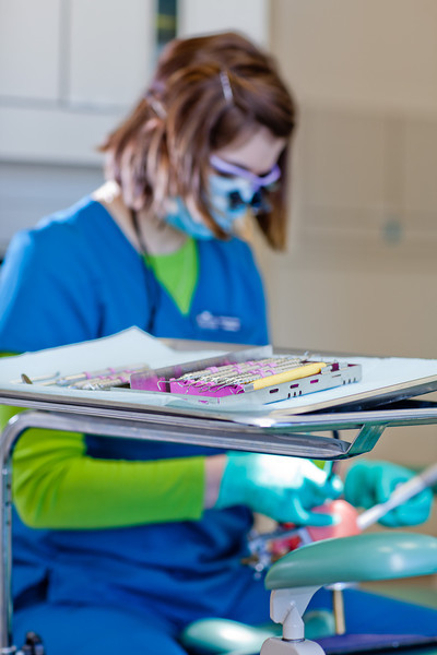 """Students in the CTC dental hygienist program practice cleaning teeth in their training facility in downtown Fairbanks.  <div class=""""ss-paypal-button"""">Filename: AAR-12-3308-105.jpg</div><div class=""""ss-paypal-button-end"""" style=""""""""></div>"""