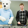"Mallet percussionist, Michael Keller, jams on the vibraphone with the Nanook mascot during the 6th annual Research Day at the Wood Center.  <div class=""ss-paypal-button"">Filename: AAR-13-3809-22.jpg</div><div class=""ss-paypal-button-end"" style=""""></div>"