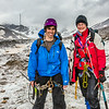 "Professor Regine Hock, a glaciologist with UAF's Geophysical Institute, and Tristan Weiss, a research technician with the Institute of Northern Engineering, pose during a research field trip to the Jarvis Glacier in the eastern Alaska Range.  <div class=""ss-paypal-button"">Filename: AAR-14-4256-481.jpg</div><div class=""ss-paypal-button-end""></div>"