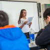 "Jesslyn McGowan from Bethel presents to her English class at UAF's Kuskokwim Campus in Bethel.  <div class=""ss-paypal-button"">Filename: AAR-16-4859-239.jpg</div><div class=""ss-paypal-button-end""></div>"