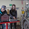 "CTC students Dayson Higgins and Missi Hacker run diagnostics in the diesel mechanics lab at the Hutchison Institute of Technology.  <div class=""ss-paypal-button"">Filename: AAR-12-3312-012.jpg</div><div class=""ss-paypal-button-end"" style=""""></div>"