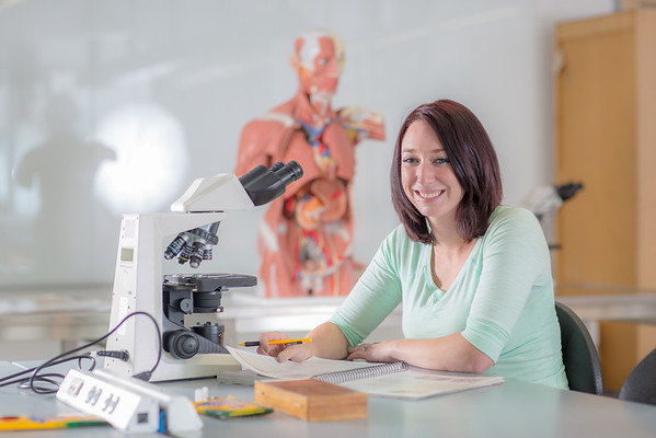 """Kelsey Gordon studies for a quiz in her summer sessions anatomy and physiology lab in the Murie Building.  <div class=""""ss-paypal-button"""">Filename: AAR-13-3856-7.jpg</div><div class=""""ss-paypal-button-end"""" style=""""""""></div>"""