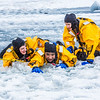 "Maxwell Delzer, left, Jordan Sanchez, and Joshua Stern practice cold-water rescue techniques this morning with the University of Alaska Fairbanks Fire Department.  <div class=""ss-paypal-button"">Filename: AAR-13-3797-87.jpg</div><div class=""ss-paypal-button-end"" style=""""></div>"