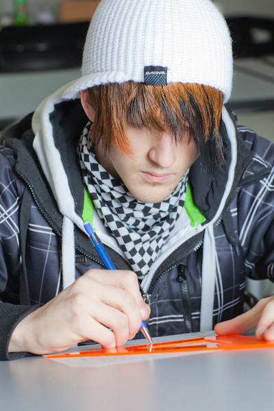 "Jacob Carter works through his weekly drafting assignment at UAF's Community and Technical College.  <div class=""ss-paypal-button"">Filename: AAR-11-3221-82.jpg</div><div class=""ss-paypal-button-end"" style=""""></div>"