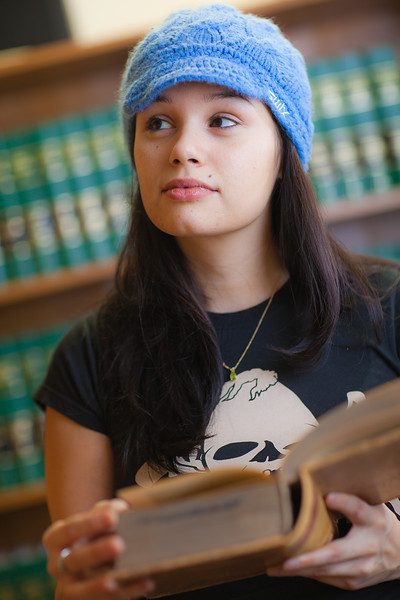 """Samantha D'Hondt conducts some research for her paralegal studies class at CTC's law library.  <div class=""""ss-paypal-button"""">Filename: AAR-11-3225-46.jpg</div><div class=""""ss-paypal-button-end"""" style=""""""""></div>"""