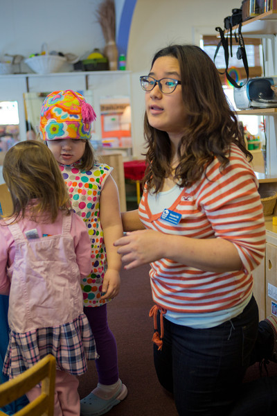 """Sooyun Chi works with pre-schoolers at the Bunnell House on the UAF campus as part of her internship for a degree in early childhood development.  <div class=""""ss-paypal-button"""">Filename: AAR-12-3335-012.jpg</div><div class=""""ss-paypal-button-end"""" style=""""""""></div>"""