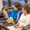 "Barbara Blake, left, assistant professor of Alaska Native Studies and Rural Development, reads prepared testimony written by undergraduate Vivian Shade from Alaknagik during a weeklong seminar on understanding the legislative process in Juneau.  <div class=""ss-paypal-button"">Filename: AAR-14-4056-43.jpg</div><div class=""ss-paypal-button-end"" style=""""></div>"