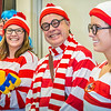 "School of Management Dean Mark Hermann joined several members of his administrative staff in a Where's Waldo exercise during a Political Economy class in Schaible Auditorium.  <div class=""ss-paypal-button"">Filename: AAR-12-3621-43.jpg</div><div class=""ss-paypal-button-end"" style=""""></div>"
