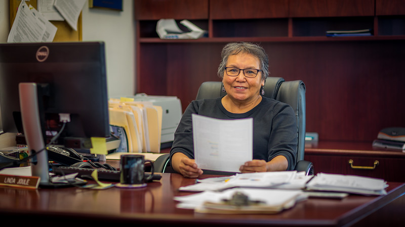 """Linda Joule is the director of UAF's Chukchi Campus in Kotzebue.  <div class=""""ss-paypal-button"""">Filename: AAR-16-4863-551.jpg</div><div class=""""ss-paypal-button-end""""></div>"""