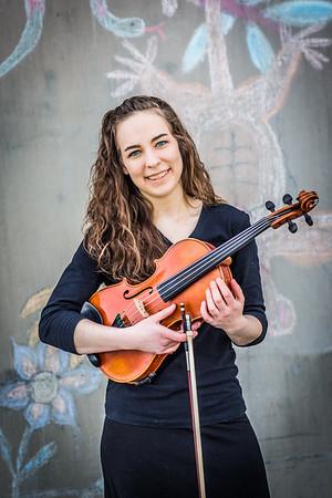 Violinist Annalisa Taylor is a music major at UAF.  Filename: AAR-15-4495-52.jpg