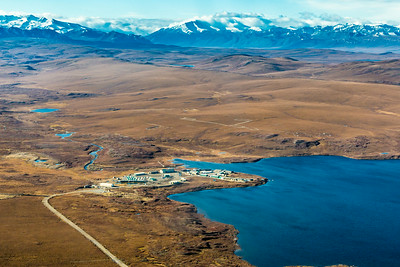 An aerial view of the Toolik Field Station, about 330 miles north of Fairbanks on Alaska's North Slope . The camp is operated by UAF's Institute of Arctic Biology and hosts scientists from around the world for a variety of arctic-based research efforts.  Filename: AAR-13-3929-172.jpg