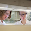 "Julia Covell, right, works with Associate Professor Kristin O'Brien's studying tissue samples of fish from Antarctica in a lab in the Arctic Health Research Building.  <div class=""ss-paypal-button"">Filename: AAR-12-3365-103.jpg</div><div class=""ss-paypal-button-end"" style=""""></div>"