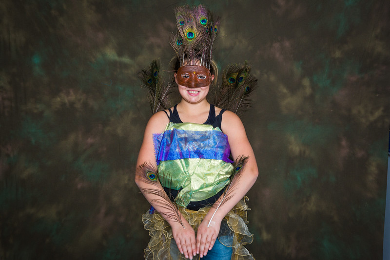 """Students from the Colors of Nature, a two-week science and art program sponsored by CNSM, feature their animal costumes during a poster presentation at the Murie Building.  <div class=""""ss-paypal-button"""">Filename: AAR-16-4938-43.jpg</div><div class=""""ss-paypal-button-end""""></div>"""