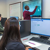"""UAF Chukchi Campus Assistant Professor of Developmental Math Kelechukwu Alu teaches a morning class at the Alaska Technical Center in Kotzebue.  <div class=""""ss-paypal-button"""">Filename: AAR-16-4863-314.jpg</div><div class=""""ss-paypal-button-end""""></div>"""