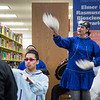 "Naaqtuuq Dommek of the UAF Iñu-Yupiaq Dance Group performs during the dedication ceremony of the Michael E. Krauss Alaska Native Language Archive Feb. 22, 2013, at the Rasmuson Library.  <div class=""ss-paypal-button"">Filename: AAR-13-3743-4.jpg</div><div class=""ss-paypal-button-end"" style=""""></div>"