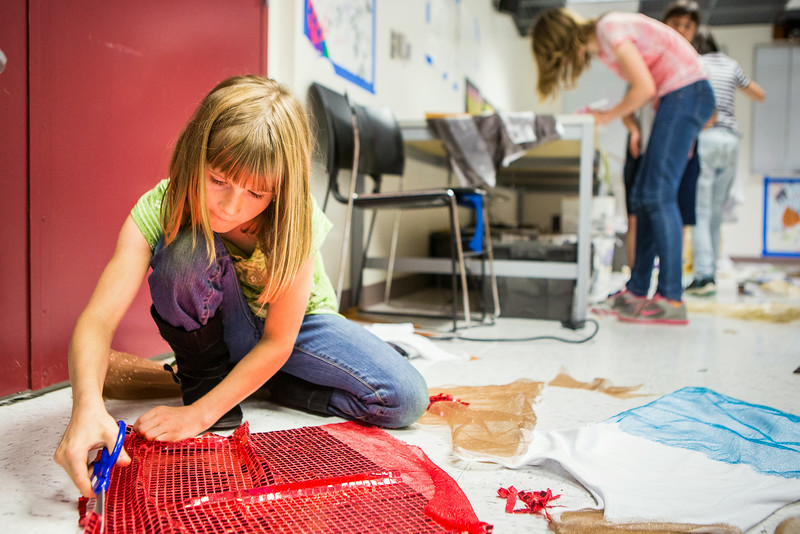 """Students from the Colors of Nature, a program sponsored by CNSM, create animal costumes during the two week program combining science and art.  <div class=""""ss-paypal-button"""">Filename: AAR-14-4252-40.jpg</div><div class=""""ss-paypal-button-end""""></div>"""