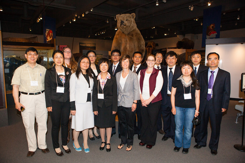 "SOM's Academic Leadership Institute participants pose for a photo inside the Museum of the North.  <div class=""ss-paypal-button"">Filename: AAR-12-3455-17.jpg</div><div class=""ss-paypal-button-end"" style=""""></div>"