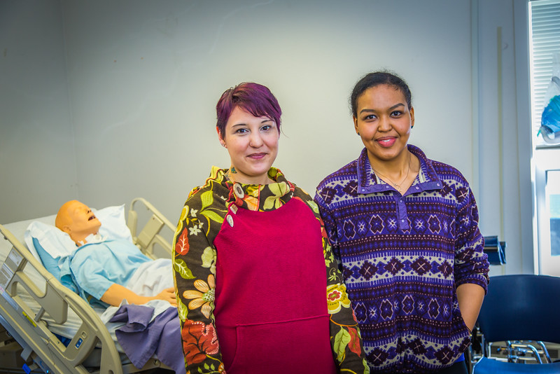 "Katie Elanna, left, and Meranda Okoomealingok are both studying nursing at UAF's Northwest Campus in Nome.  <div class=""ss-paypal-button"">Filename: AAR-16-4865-380.jpg</div><div class=""ss-paypal-button-end""></div>"